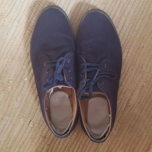 Blue Doc Martin Oxfords